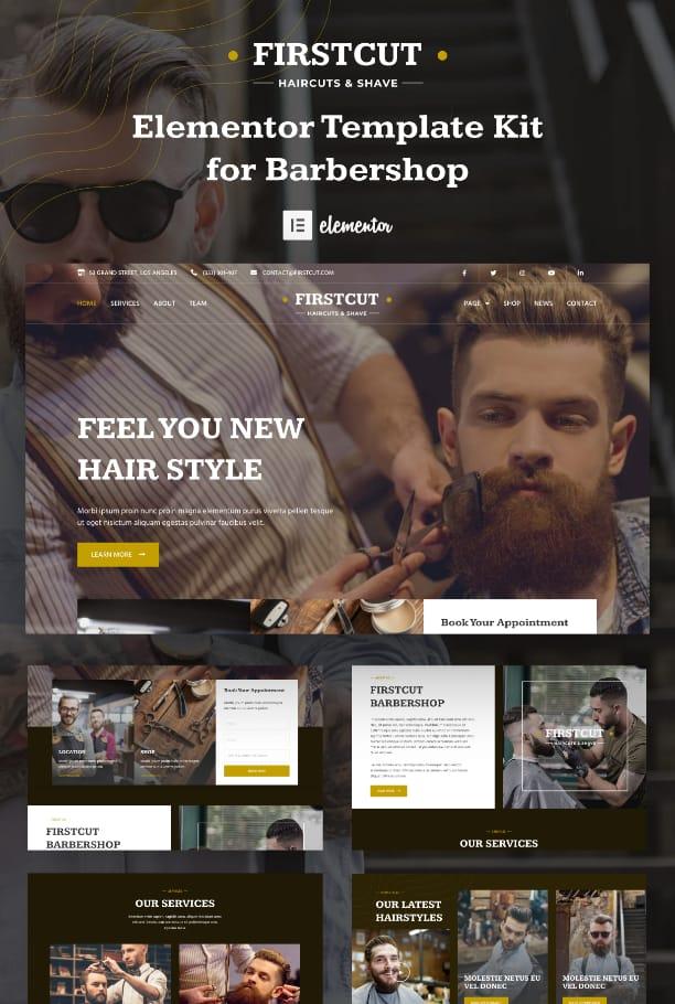 Barbershop Elementor template