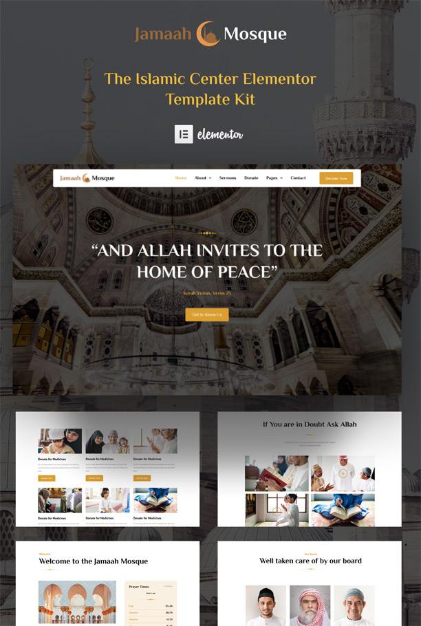 Mosque Website Elementor Template