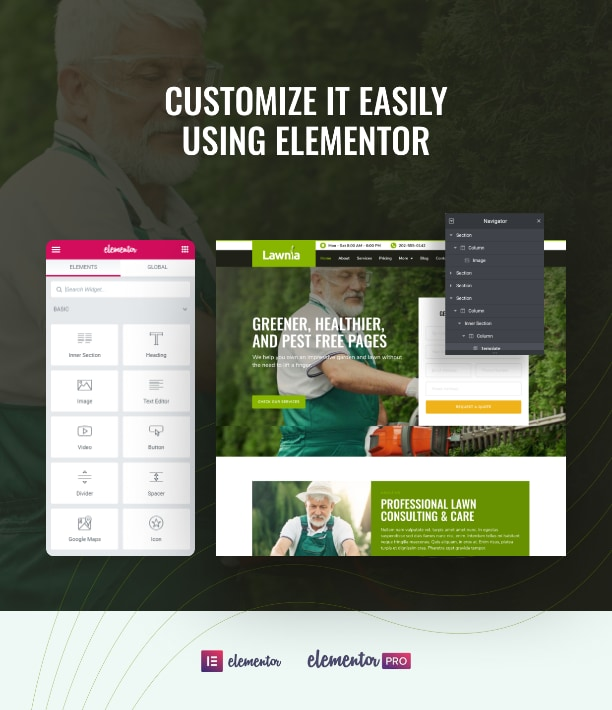 Landscaping business website template