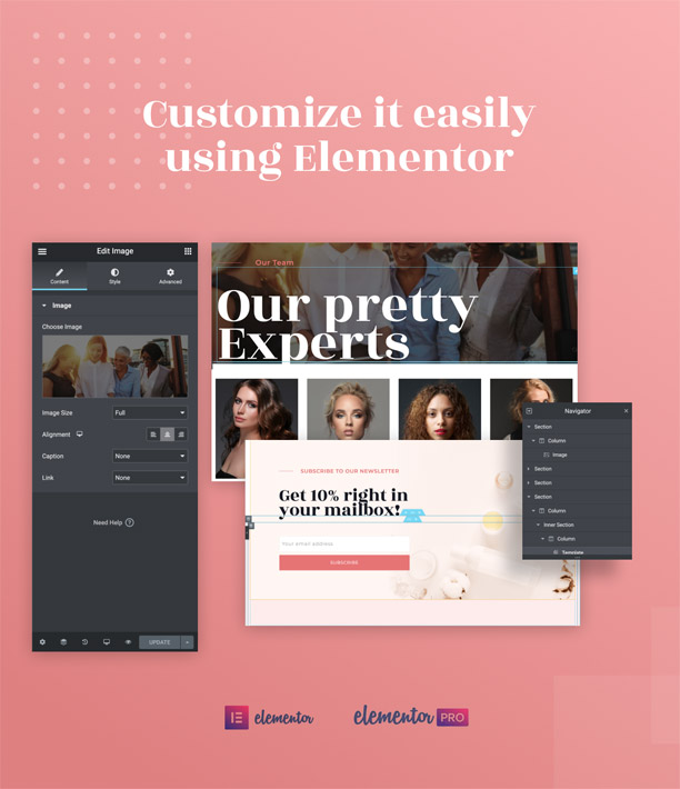 Prettybox Cosmetic & beauty Elementor Template
