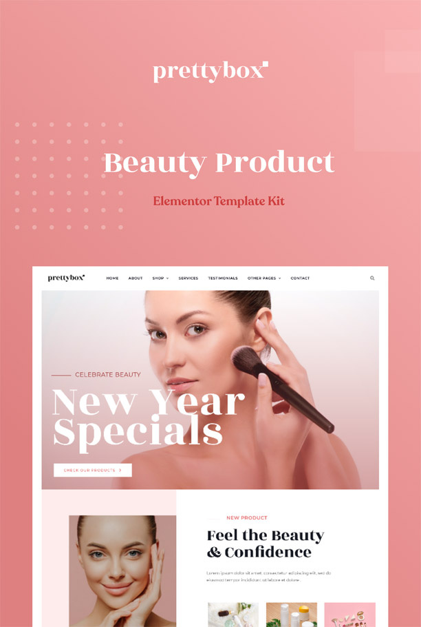Cosmetic & beauty Elementor Template